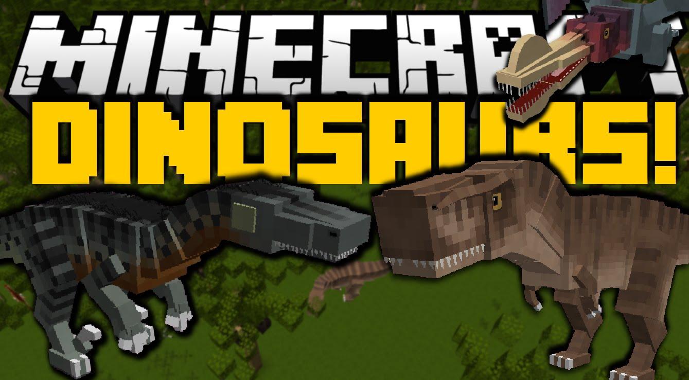 скачать мод на динозавров